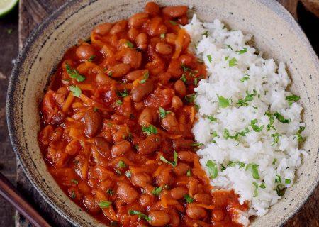 لوبيا قرمز همراه برنج